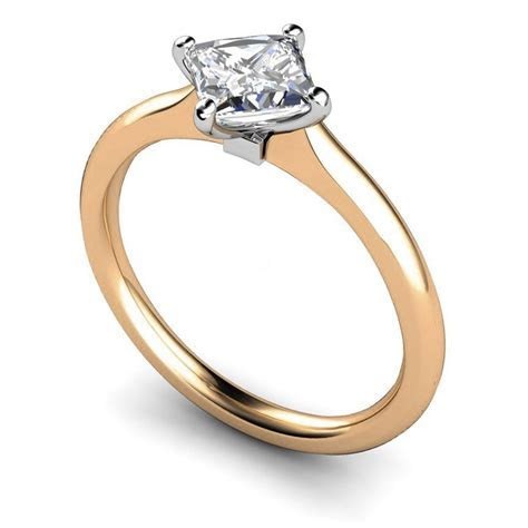 HRP592 4 Claw Princess Solitaire Ring   Shining Diamonds