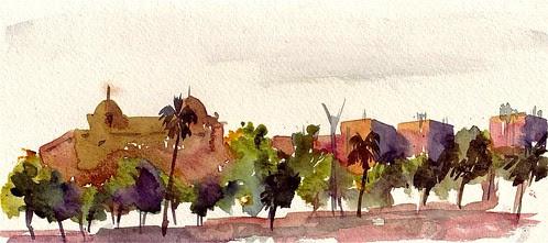 Barceloneta panorama, Barcelona, Spain