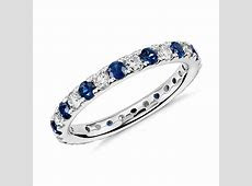 Riviera Pavé Sapphire and Diamond Eternity Ring in Platinum (2/3 ct. tw.)   Blue Nile