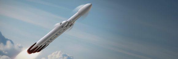 Lanzamiento del Falcon Heavy (SpaceX).
