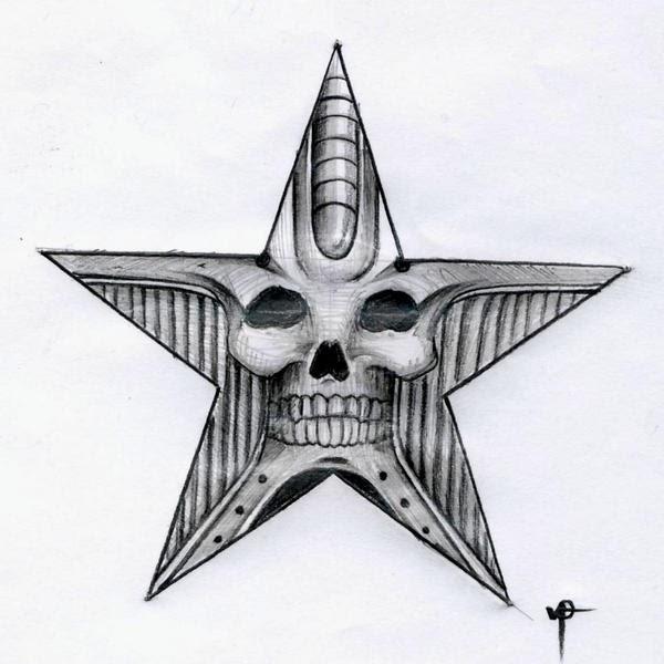 corner tattoos skull star tattoo designs. Black Bedroom Furniture Sets. Home Design Ideas
