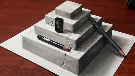 concrete pyramid pencil drawing youtube