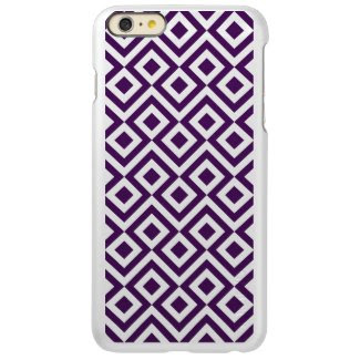 Purple and White Meander Incipio Feather® Shine iPhone 6 Plus Case