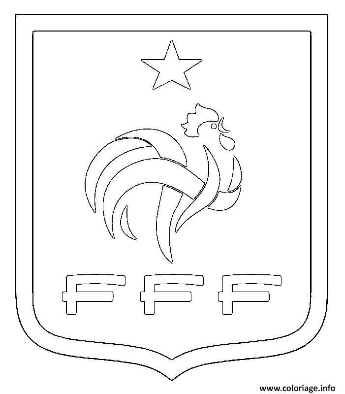 Coloriage Foot France Fff Logo Jecoloriecom