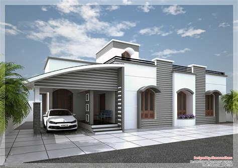 single floor kerala house elevation  white  grey
