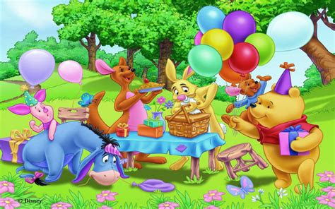 birthday party winnie  pooh  friends gifts balloons