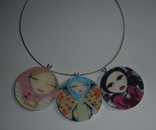 Necklaces -  3 Whimsical  Angel Pendants
