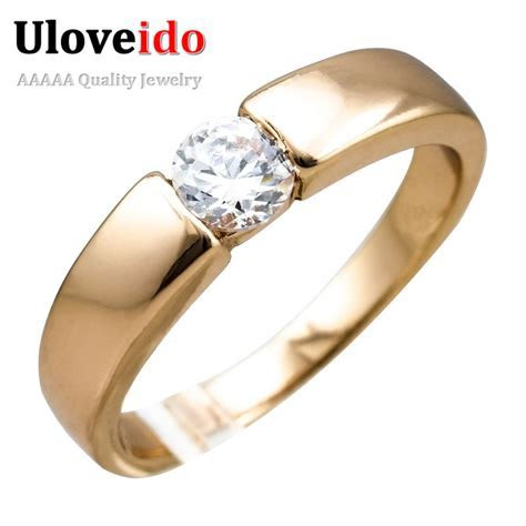Uloveido 2016 Rose Gold Plated Micro Pave Mens Cheap