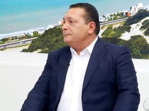 Deputado Ezequiel Ferreira, presidente da AL/RN (Foto: Reprodução/Inter TV Cabugi)