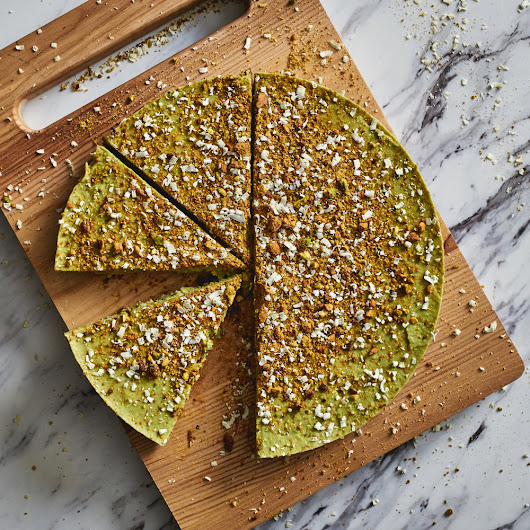 Pistachio + Rose Water Tart