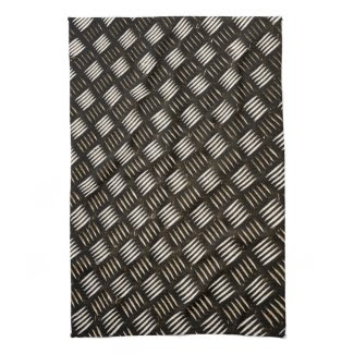 Abstract Modern Metal Tiles Towel