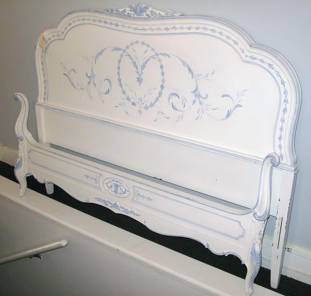Painted vintage bed