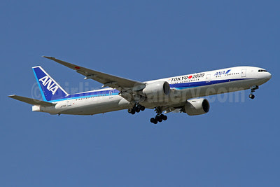 ANA (All Nippon Airways) Boeing 777-381 ER JA734A (msn 32649) (Tokyo 2020 - Japan's bid to host the 2020 Olympic and Paralympic Games in Tokyo) IAD (Brian McDonough). Image: 911794.