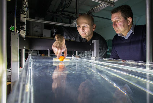 Physicists create water tractor beam