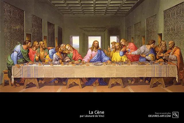 """Résultat de recherche d'images pour """"la cene leonard de vinci"""""""