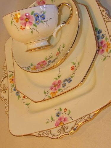 Art Deco Paragon bone china.