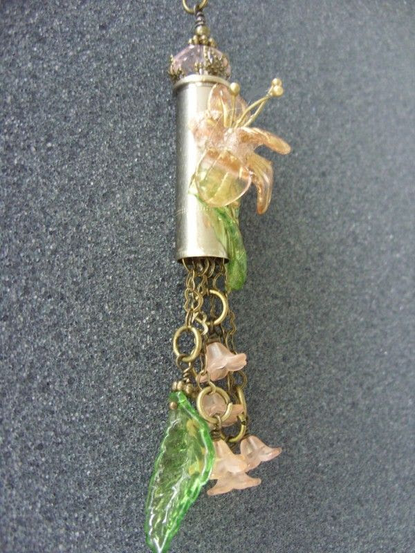 Steampunk style Recycled brass bullets
