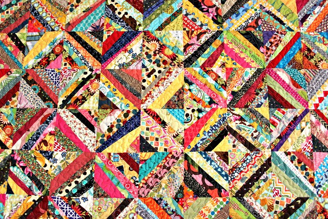Whipstitch Scappy Strings Quilt