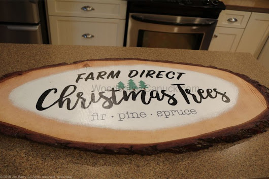 Making a Christmas Sign