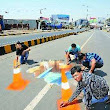 Artists highlight city's potholes through 3D art - The Times of India