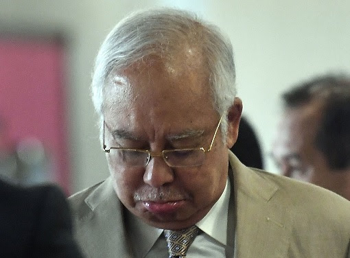 Najib Razak - SRC Trial - Facing Defeat with Worry Expression