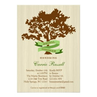 Oak Tree Fall Bridal Shower Invitation