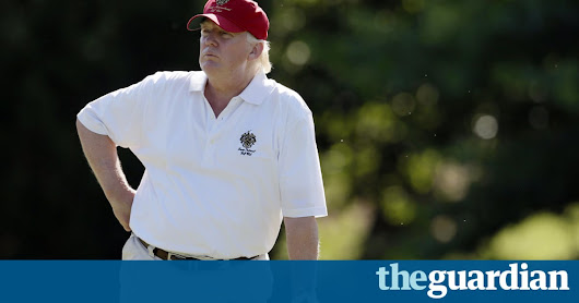 Trump golf game gets special press box: a basement with blacked-out windows | US news | The Guardian