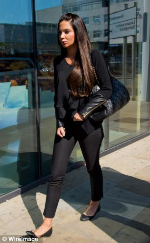 Contostavlos appeared under her real name, Tula Contostavlos, at Chelmsford Magistrates¿ Court this morning where she faces a charge of assault