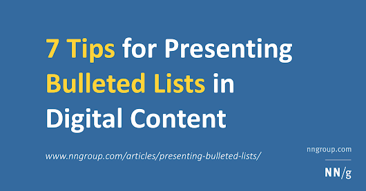 7 Tips for Presenting Bulleted Lists in Digital Content