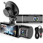 3 Dual Lens 1080P Car Dash Cam with G-Sensor and Night Vision