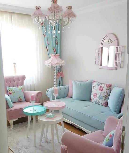 Ruang Tamu Shabby Pink | Ide Rumah Minimalis