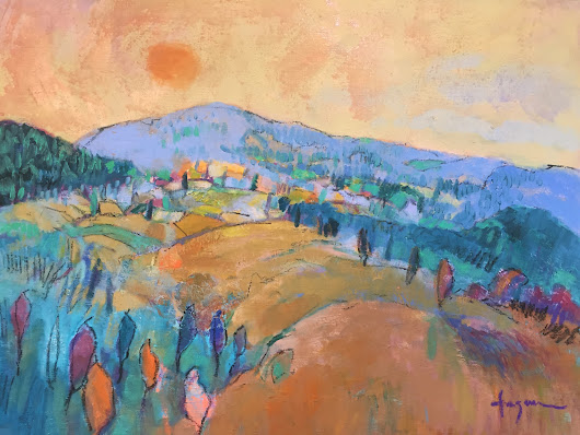 Dream Valley II, Abstract Mountain Landscape by Dorothy Fagan