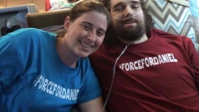 Daniel Fleetwood na última foto com a mulher Ashley Fleetwood