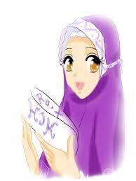 gambar kartun muslimah lucu cantik  imut bagian