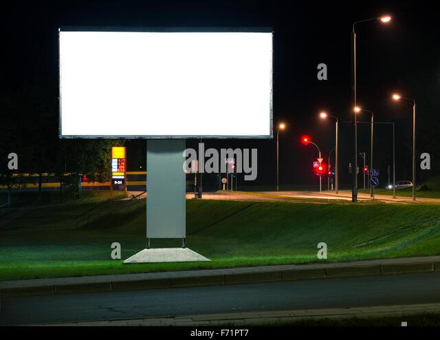 Blank Billboard At Night Stock Photos & Blank Billboard At Night ...