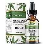 ECO finest Hemp Oil 1000MG – Pain Anxiety & Stress Relief 100% Natural Sleep Aid Anti Stress Hemp Extract Drops Organic Hemp Seed Oil Supplements