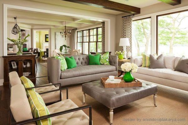 Desain Interior Ruang Keluarga Semi Klasik