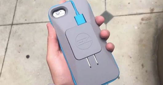 Someone invented an iPhone case that doubles as a phone charger