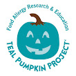 Have an allergy-safe Halloween with a teal pumpkin out front!