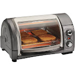 Hamilton Beach Easy Reach Toaster Oven with Roll-Top Door