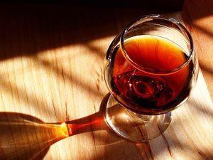 A glass of port wine.