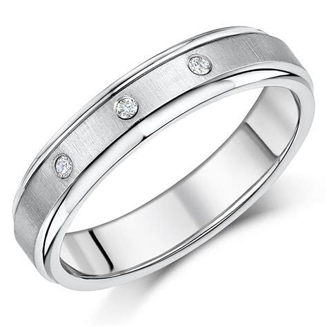 5mm Titanium Diamond Engagement Wedding Ring   Titanium