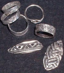 silver bits and rings