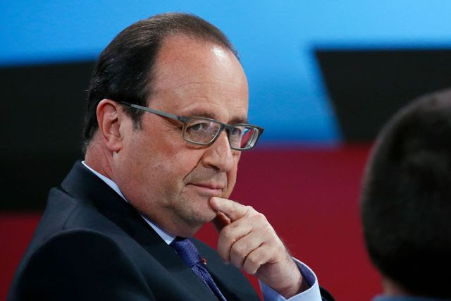 President Francois  Hollande took part in the national Conference of  disability in the Elysee Palace in Paris on 19 May  2016.