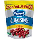Ocean Spray Craisins Dried Cranberries, Original, Value Pack! - 24 oz