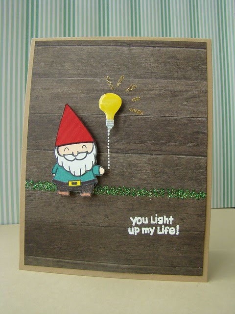 you light up my life (gnome) card - ls