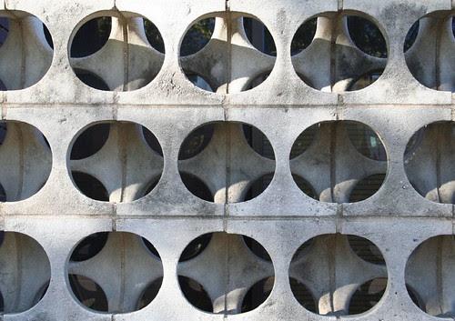 Concrete pattern wall