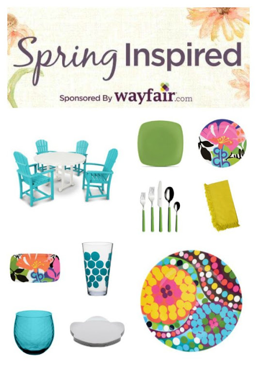 My Spring Decor Fantasy from Wayfair - Vicki O'Dell The Creative Goddess