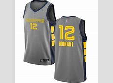Youth Grizzlies #12 Ja Morant Navy Blue Youth Basketball