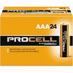 Duracell Procell Alkaline Batteries AAA 24 Box